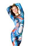 slanke vrouwen met lichaamsart. Stock Afbeelding