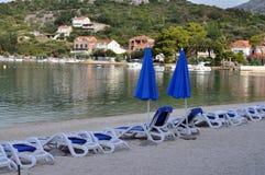 Slano, Croazia - hotel della spiaggia Immagine Stock Libera da Diritti