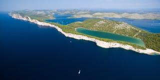 Slano lake in nature park Telascica, Croatia Stock Images