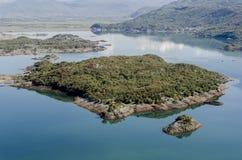 Slansko湖,蒙特内哥罗 免版税库存图片