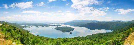 Slansko Jezero, Montenegro. Panoramic view of Slansko Jezero, Montenegro Royalty Free Stock Photo