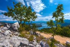 Slansko lake, Niksic, at the foot of Mount Trebjesa, Montenegro. Stock Images