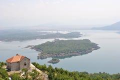 Slansko sjö nära Niksic, Montenegro royaltyfri foto