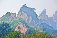 The slant megalith  _ autumnal scenery Royalty Free Stock Images