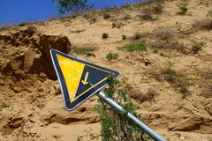 Slant road sign Royalty Free Stock Images