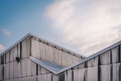 Slanted Aluminum Roof Royalty Free Stock Images