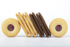 Slanted biscuits Royalty Free Stock Photos