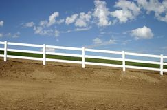 Slanted Fence Stock Photo