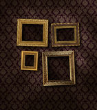 Slanted gilded frames stock photo
