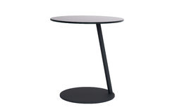Slanted metal round desk Royalty Free Stock Images
