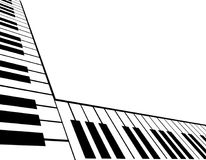 Slanted Piano Keyboard Stock Photo