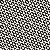 Slanted rhombuses seamless geometric pattern. Diagonal intersect lines. Slanted rhombuses seamless geometric pattern. Simple stylish vector texture with small Royalty Free Stock Image