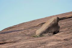 Slanted Rock in the Enchanted Rock State Park stock images