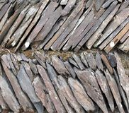 Slanted Stone Slabs Royalty Free Stock Photo