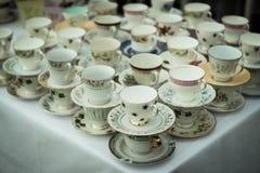 Slanted tea table royalty free stock photo
