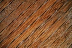 Slanted Wood Planks Royalty Free Stock Image