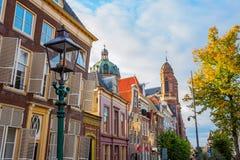 Slanting historic buildings in Hoorn, Netherlands. Slanting historic buildings in the old town of Hoorn, Netherlands Royalty Free Stock Photography