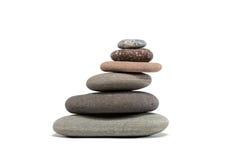 Free Slanting Stone Cairn Isolated On White Stock Photography - 49960042