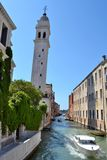 Slanting tower. In Venice, Italy Stock Photography