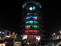 Menara condong. Slanting tower at night Stock Photo
