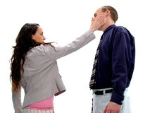 The Slap 1. Relationship gone bad in the workplace Royalty Free Stock Photography