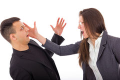 Slap in the face, problems in relationship Royalty Free Stock Photography