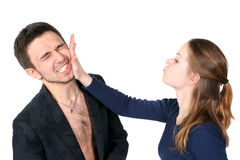 Slap in the face Royalty Free Stock Photography