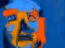 Slapeloosheid - het Digitale Schilderen Stock Afbeeldingen
