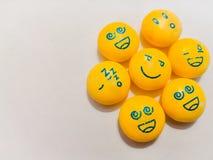 Slapend, droevige, gelukkige glimlachen, emoties royalty-vrije stock foto's