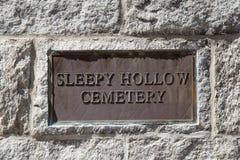 Slaperig zegen Begraafplaats stock foto