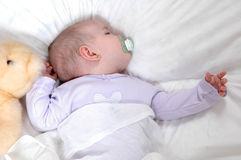 Slaperige Baby royalty-vrije stock foto's