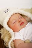 Slaperige baby stock foto's