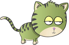 Slaperige Cat Vector Stock Foto