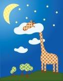 Slaperige Giraf Royalty-vrije Stock Afbeeldingen