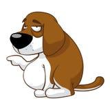 Slaperige hond Stock Afbeelding
