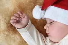 Slaperige Kerstmis Stock Foto's