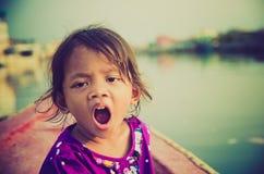 Slaperige kinderen Stock Foto's
