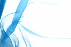 slapp abstrakt blå chiffon arkivbild