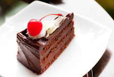 slapp cakechoklad Royaltyfri Bild