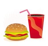 slapp cheeseburgerdrink vektor illustrationer
