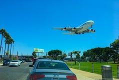 SLAPP Los Angeles flygplats fotografering för bildbyråer