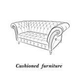 slapp sofa Royaltyfri Foto