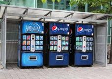 slapp vending för drinkmaskin Fotografering för Bildbyråer