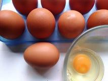 slappa kokt ägg Arkivbilder