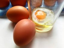 slappa kokt ägg Royaltyfria Foton