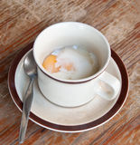 slappt kokt ägg Fotografering för Bildbyråer