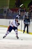 slapshot rossoblu milano хоккея стоковое фото