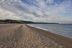 Slapton在德文郡铺沙海滩在英国 免版税库存图片
