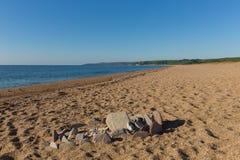 Slapton Sands beach Devon England Uk royalty free stock images
