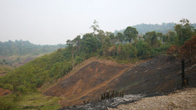 Slash and burn agriculture in Thailand stock images